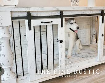 Dog kennel,Dog Crate,Custom kennel design, Free Shipping, Rustic Dog kennel