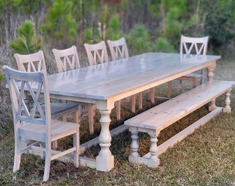 Extra Long Large Farmhouse Rustic charm table Custom Dining table