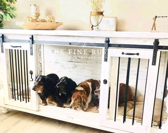 Dog kennel Furniture Barn door Farmhouse rustic buffet