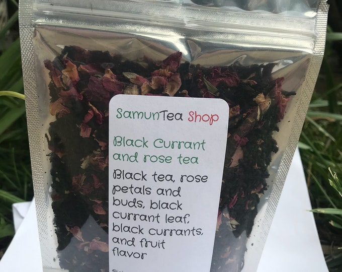 Black currant and rose tea