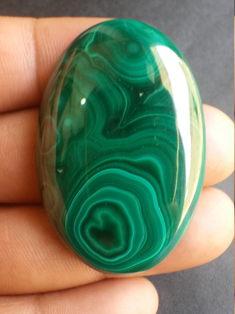AAA Quality Malachite Cabochons 43.5x28.5x7.5 MM Size C250 Loose Gemstone Natural Malachite Oval Shape Smooth Cabochon