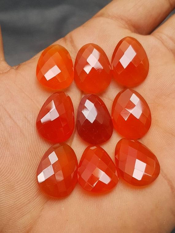 Cornaline naturelle calcédoine calcédoine naturelle fantaisie forme des Briolettes, 20.5x15 MM, 9 Pcs, Briolettes de cornaline, pierres précieuses en vrac, qualité AAA, C3024 ddedd7