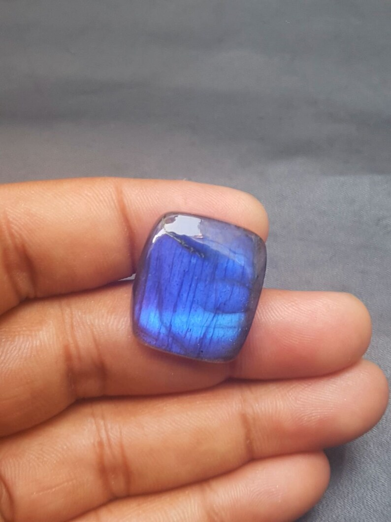 C6300 Blue Flashy Labradorite Cabochons Natural Labradorite Baguette Shape Smooth Cabochon Loose Gemstone AAA Quality 23.5x21x5.5 MM