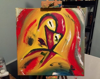 Swirly Face Time Original Oil Painting