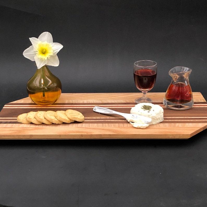 Angle Corner Style Artisan Cutting Board // Black Walnut image 0