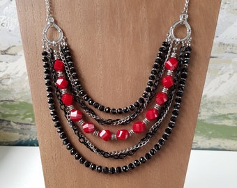 Multi-Strand Necklace with