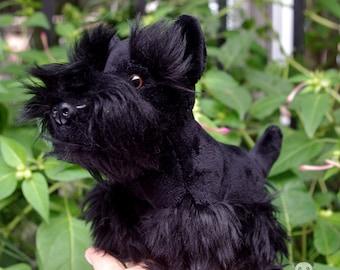 Black Schnauzer Dog Stuffed Animal Plush Toy