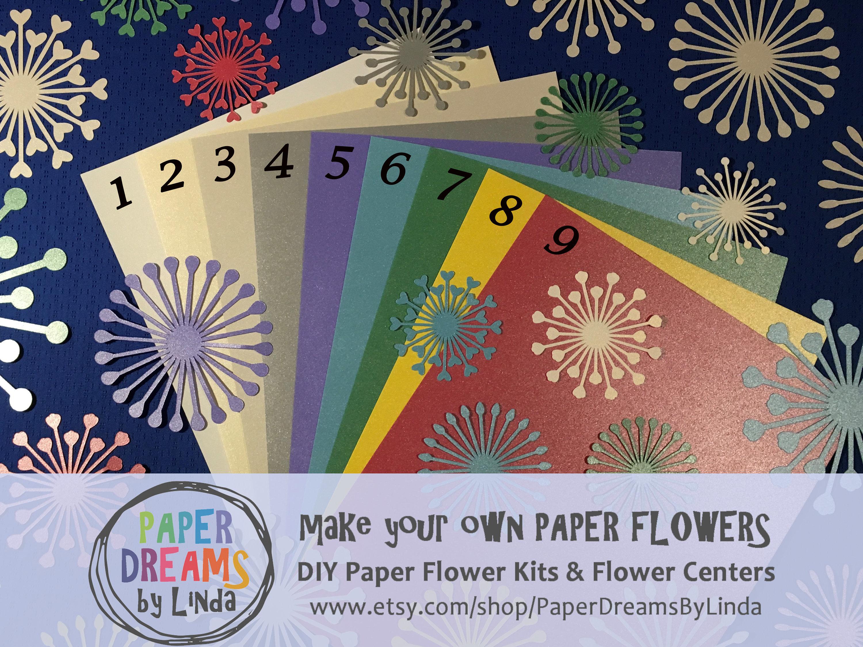 Custom Paper Flower Centers Metallic Colors Pack Of 15 Etsy
