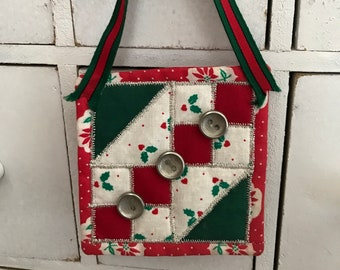 Mini quilt block ornament