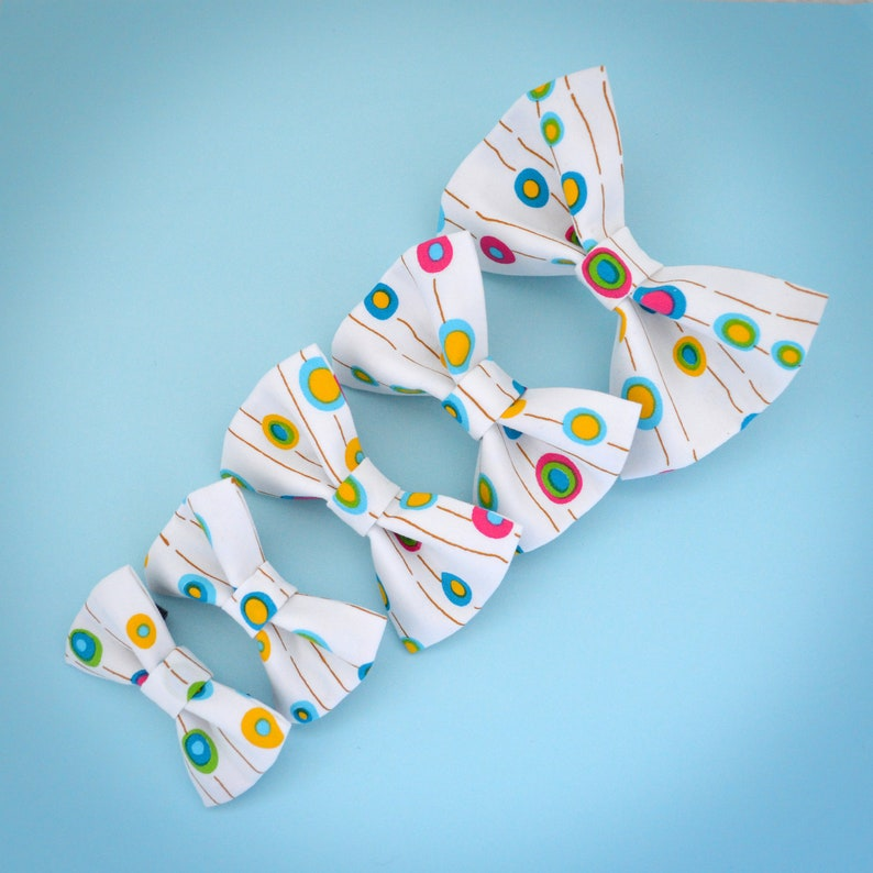 Colourful Spots Pet Collar Accessory Medium Dog Bow Tie
