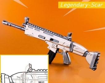 Fortnite Legendary Scar Cosplay 2D Blueprint Digital