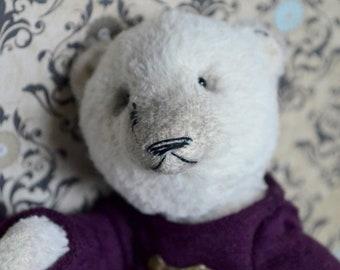 White teddy bear. Teddy bear.