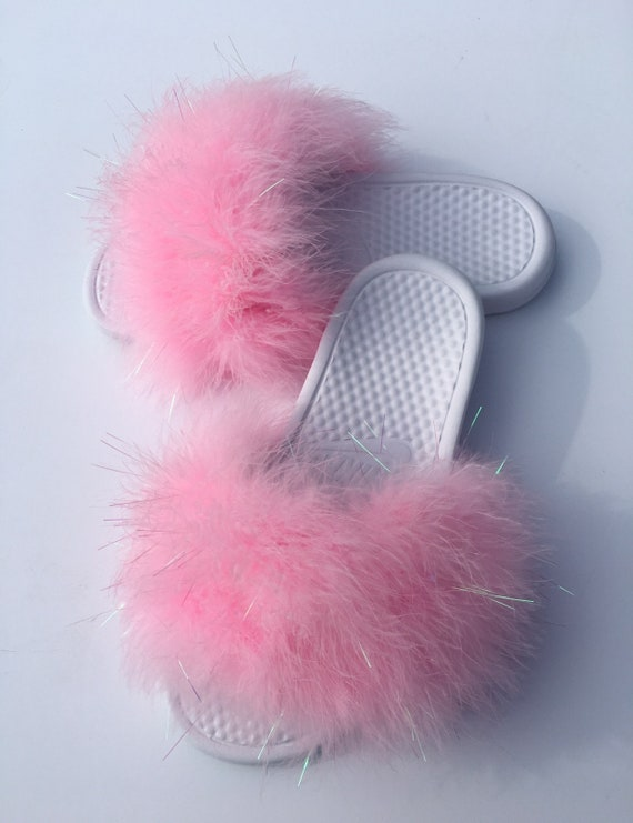 cacecdcd417ca5 Nike Princess Pink Fuzzy Fur Slides