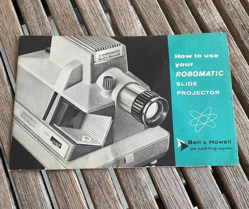 Vintage Slide Projector Manual