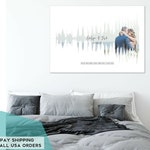Personalized Sound Wave Art Print On Canvas. Made With Your Song & Your Name. Perfect One Year Anniversary Gift For Your Husband