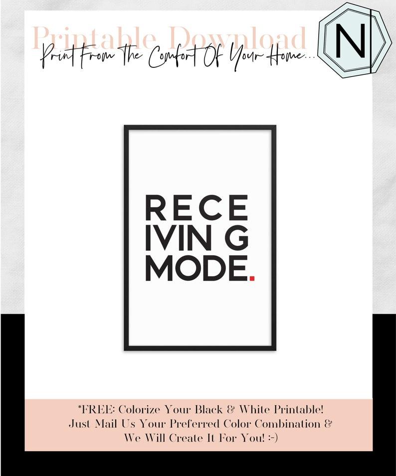 Abraham Hicks Receiving Mode: Minimalistic Typography Black & image 0