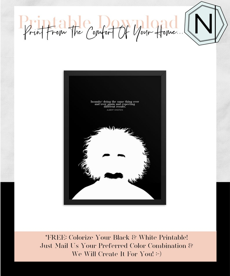 Albert Einstein Quote Insanity: Doing The Same image 0