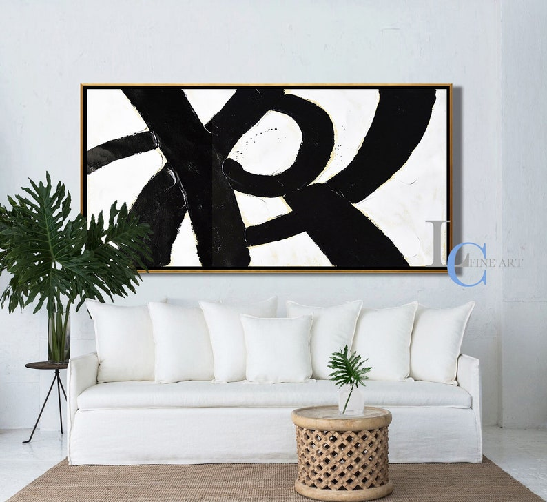 Modern Abstract Art Textured Painting on Canvas by Leah Caylor #L142W Minimalist Wall Art Oversized Abstract Painting Canvas Art