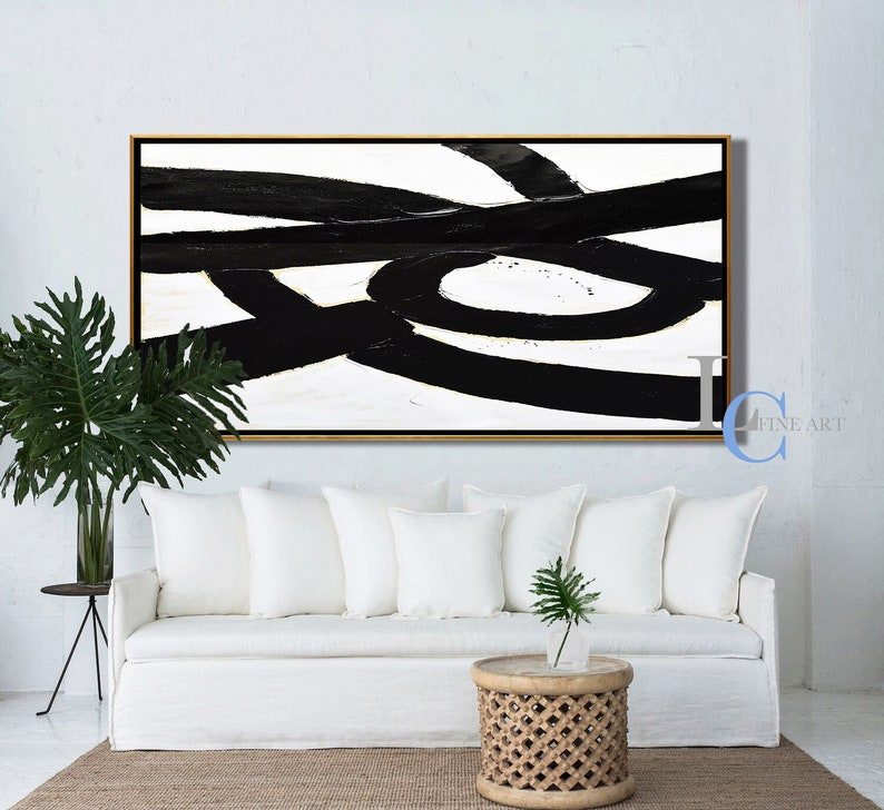 Textured Painting on Canvas by Leah Caylor #L141W Modern Abstract Art Minimalist Wall Art Oversized Abstract Painting Canvas Art