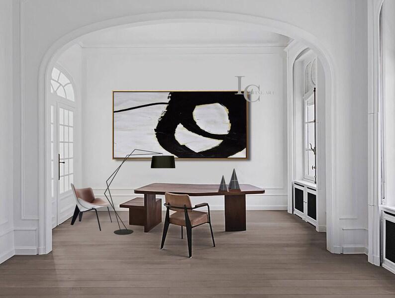 Original Abstract Painting Minimalist Art Large Modern Wall image 0