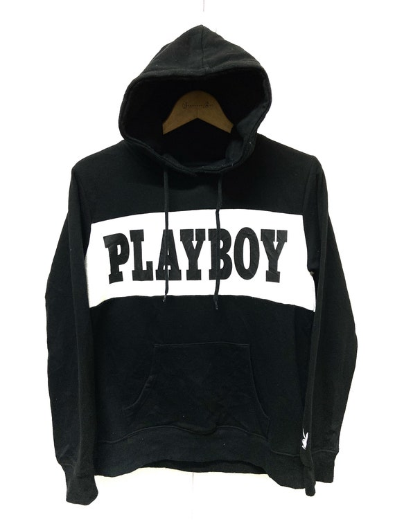Vintage Playboy Big Logo Embroidery Spell Out Hood