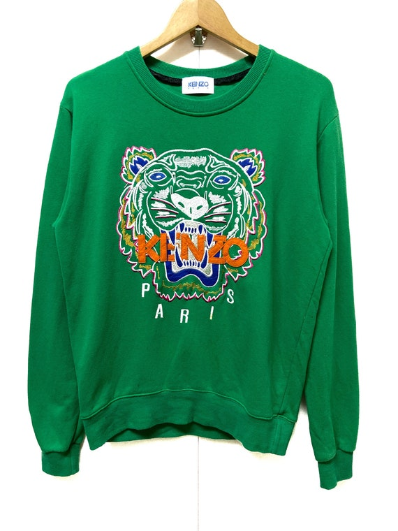 Vintage Kenzo Paris Tiger Embroidery Crewneck Swea