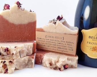 Sparkling Prosecco Natural Goat Milk Soap Gift Ideas For Women Thank You Party Gifts Birthday