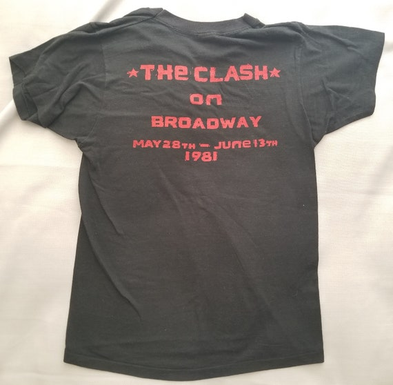 The Clash On Broadway T-Shirt - 1981 - Extremely … - image 3