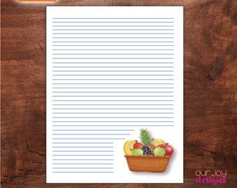 "Fruitage Digital JW Letter Writing Paper | Galatians 5:22, 23 | 8.5"" x 11"""