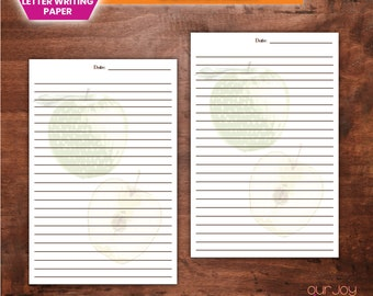 """Green Apples 5.5 x 8.5"""" 