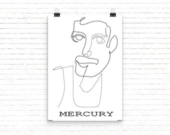 Rock and Roll Legend Freddie Murcury from Queen Poster