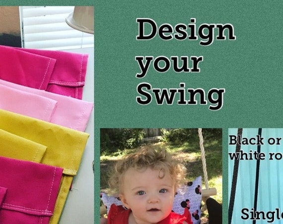 Baby Canvas Swing, Design your own swing, Baby Swing Indoor, Toddler Swing, Playroom swing