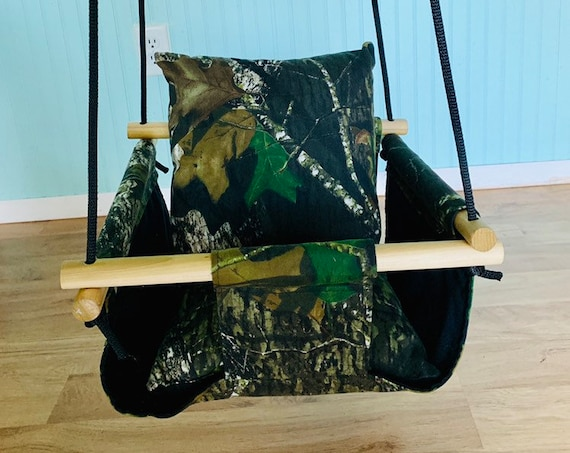 Camo Baby Swing Indoor, Camo Canvas Playroom Swing, First Birthday Gift, Baby Shower Gift, Camo Nursery swing, Toddler Camouflageswing