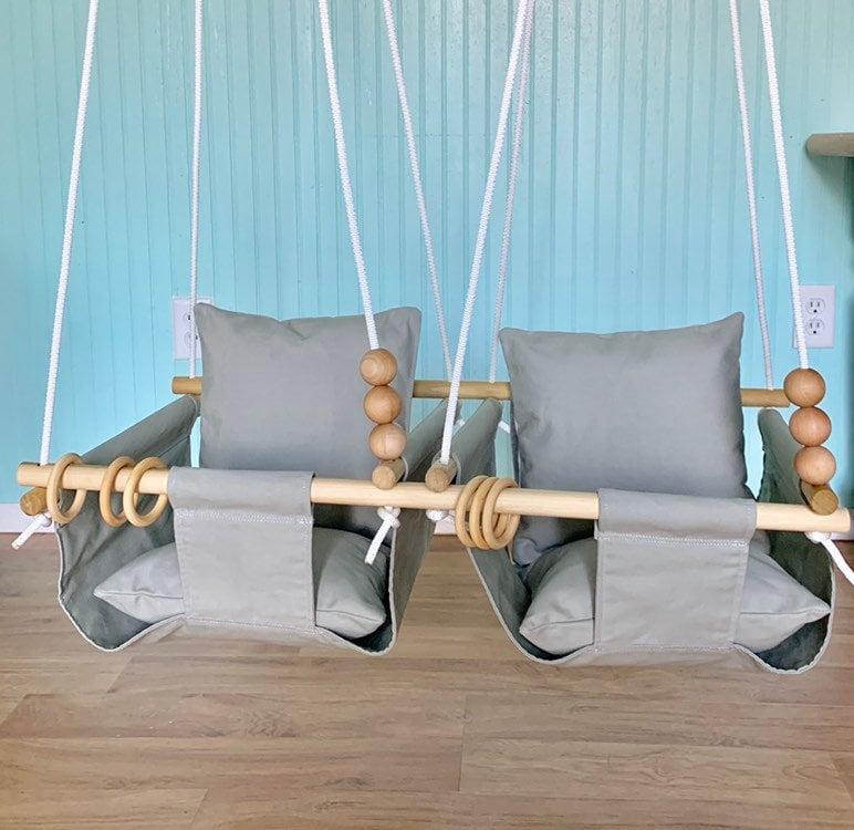Twins Baby SwingDouble Swing SwingFirst Birthday Gift Shower Nursery Decor Indoor Outdoor