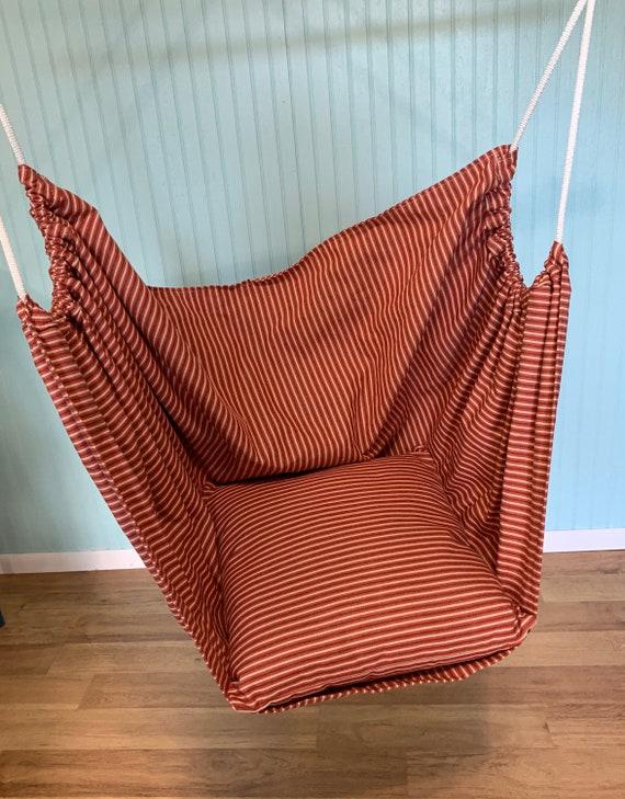 Child's hammock chair indoor swing, Canvas Swing, Reading nook chair swing, Playroom swing, sensory swing, Porch swing