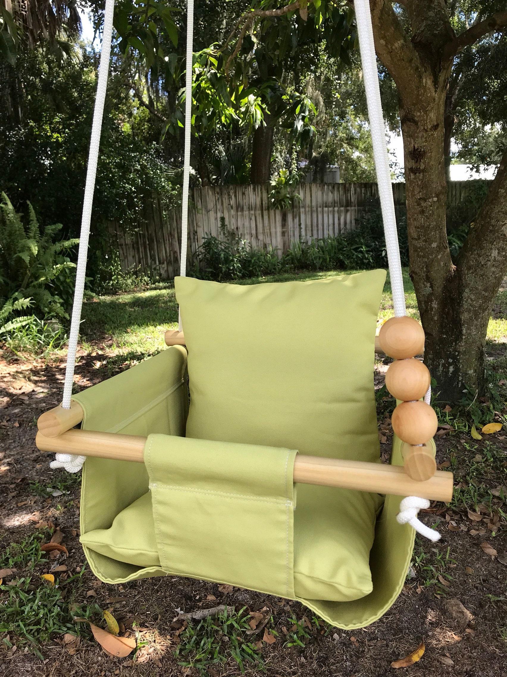 Baby Swing, Kiwi Green Swing, First Birthday Gift, Baby Shower Gift, Canvas  Swing, Lime Swing, Outdoor Swing, Nursery Decor