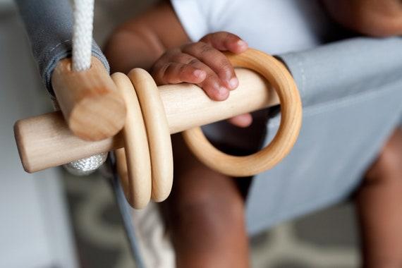 Baby swing wooden play rings set of 3 rings option, Baby swing rings, 3 wooden rings for swing, Baby swing toys, Swing play rings