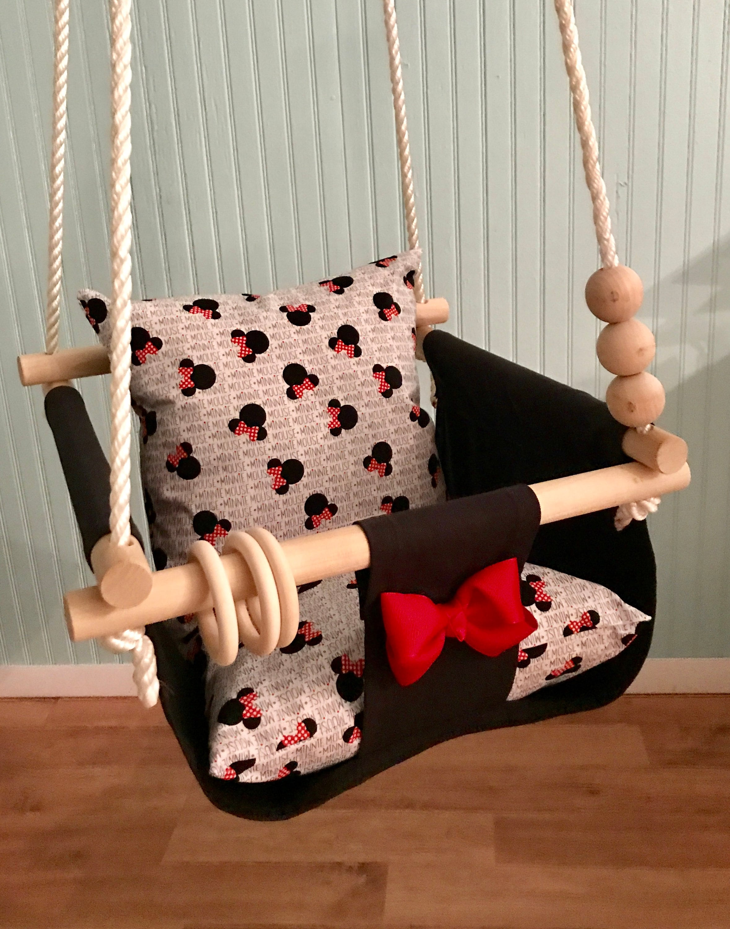 Baby Swing Minnie Mouse 1st Birthday Gift Nursery Decor Indoor Outdoor Porch SwingToddler SwingDisney