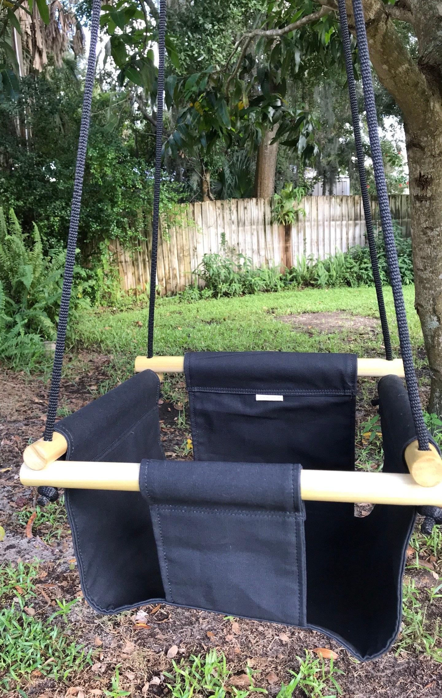 Baby Swing Black Toddler Outdoor Nursery Decor