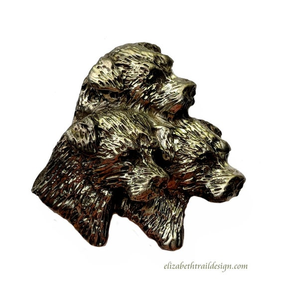 Border Terrier Brooch Pin, Handcrafted Bronze Border Terrier Jewelry, Dog Jewelry by Elizabeth Trail