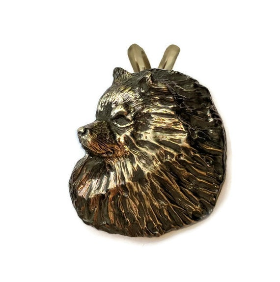 Keeshond Pendant Necklace Handcrafted Bronze Keeshond Jewelry Keeshond Gift, Elizabeth Trail Dog Jewelry, Keeshonden, Kees
