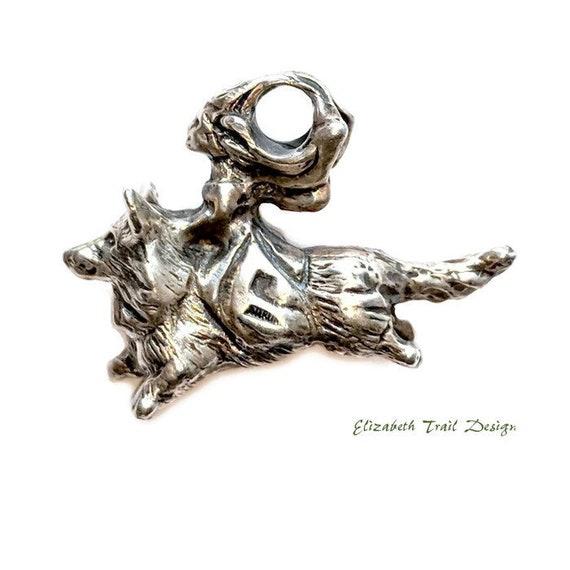 Cardigan Welsh Corgi Pendant Necklace, Silver Cardigan Corgi Jewelry, Corgi Fairy Necklace, Corgi gifts, Elizabeth Trail Dog Jewelry