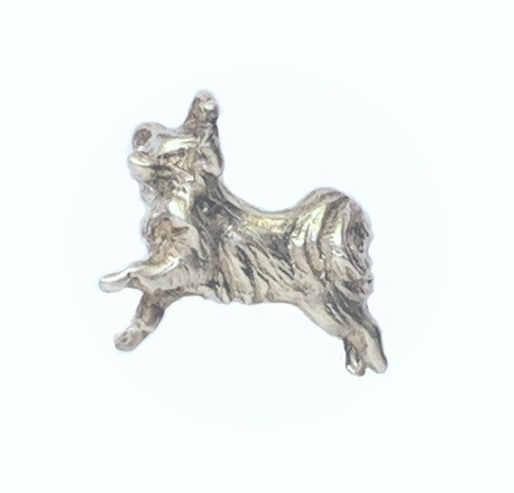 Papillon Dog Lapel Pin, Handcrafted Papillon Dog Breed Jewelry, Sterling Silver Papillon Jewelry, Elizabeth Trail Dog Jewelry, Papillon Pin