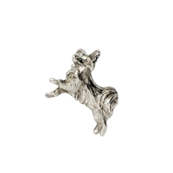 Papillon Tie Tack Pin, Handcrafted Papillon Dog Breed Jewelry, Sterling Silver Papillon Jewelry, Elizabeth Trail Dog Jewelry, Papillon Dog