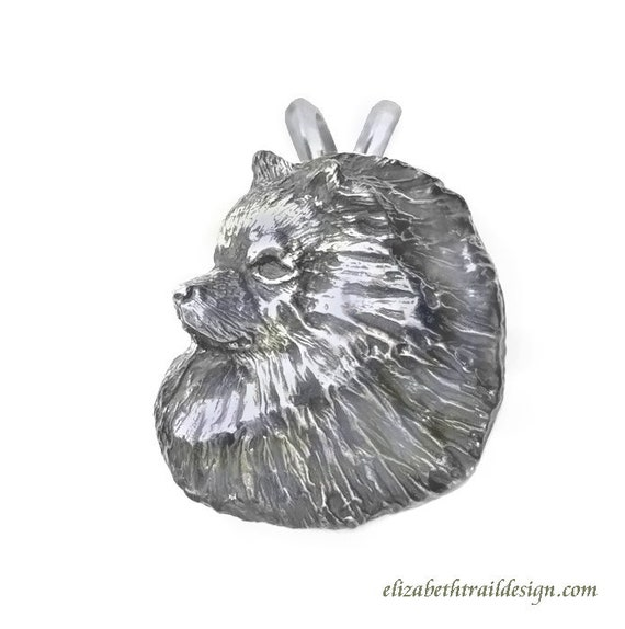 Keeshond Pendant Necklace, Handcrafted Sterling Silver Keeshond Jewelry