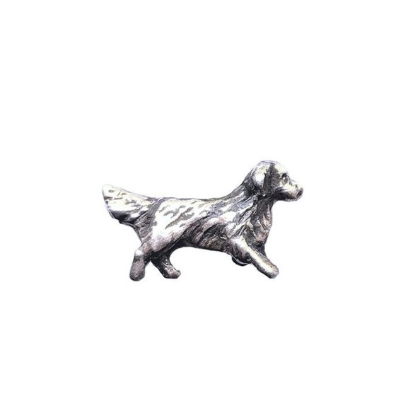 Golden Retriever Sterling Silver Handcrafted Lapel Pin