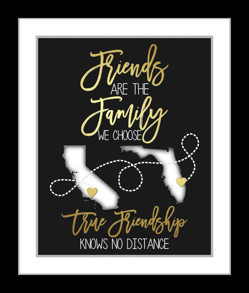Best Friend Moving Long Distance Personalized Best Friend Gift, Moving Away  Present Gift For Friend Love My Bestie Bff Friends Maps