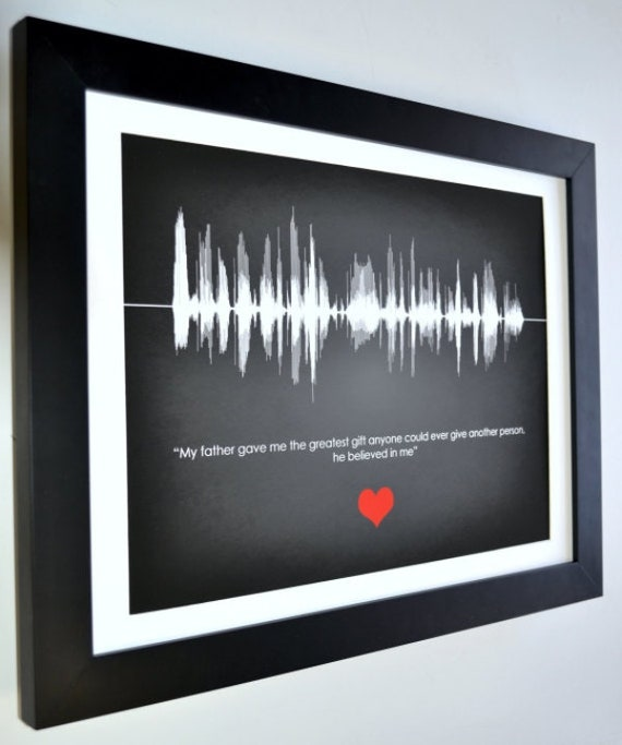 Sentimental gift for dad, father gift for dad, gift on fathers day gift,  dad birthday gift, small or large personalised voice or song print