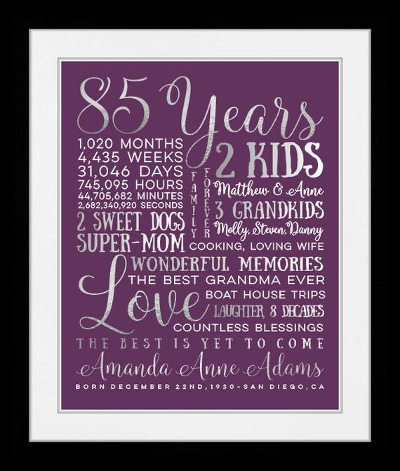 Jedes Jahr Geburtstag Geschenk Fur Oma 85 Etsy