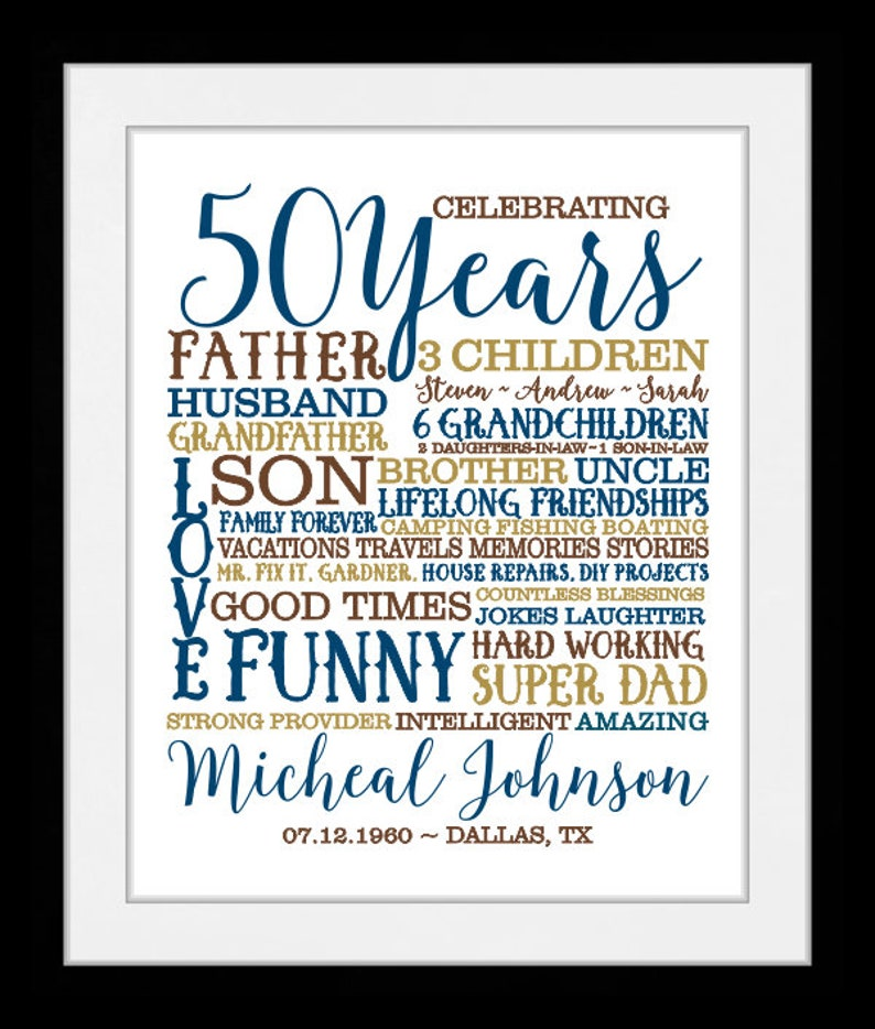 50th Birthday Chalkboard Born in 1969 Stats Sign Photo Prop Poster